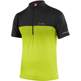 Löffler Flow T-shirt de cyclisme avec zip pectoral Homme, light green